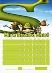 Personalised Shrek Reward Chart (adding photo option available)